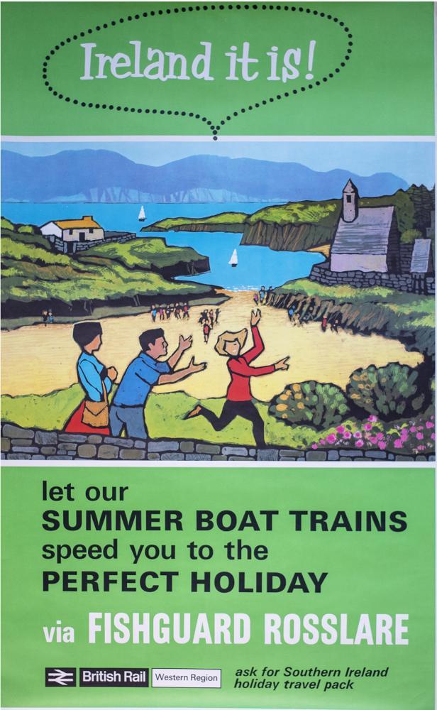 Poster BR(W) IRELAND IT IS VIA FISHGUARD ROSSLARE.