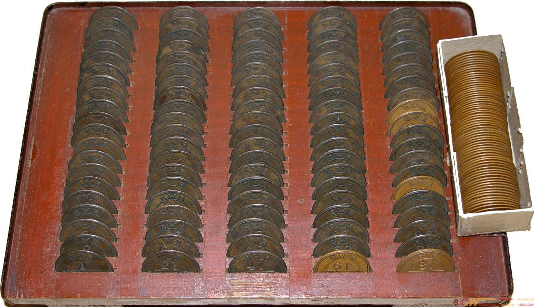 GWR Pay Checks, Qty 170 Comprising 1 - 100 Mounted