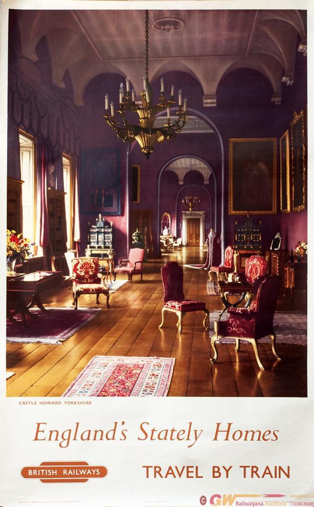 Poster BR CASTLE HOWARD YORKSHIRE ENGLANDS STATELY