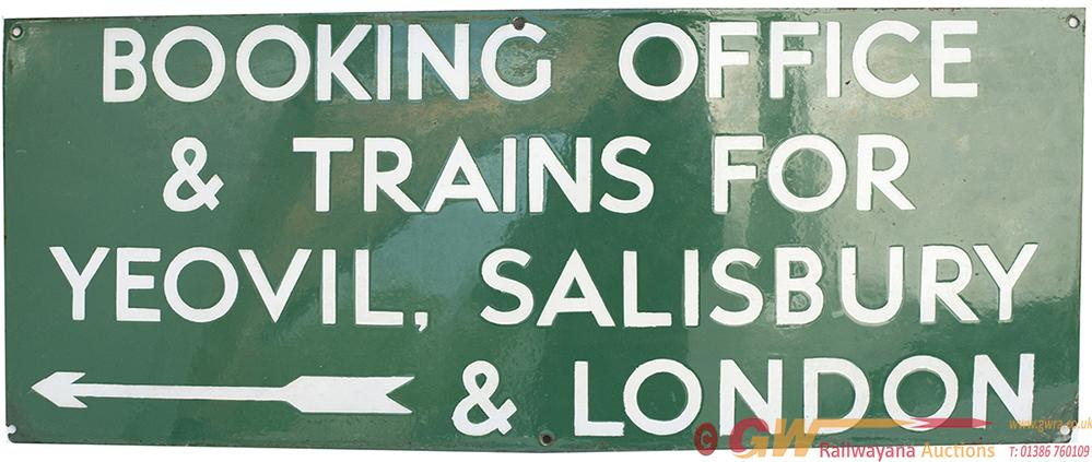 Southern Railway Enamel Sign BOOKING OFFICE &