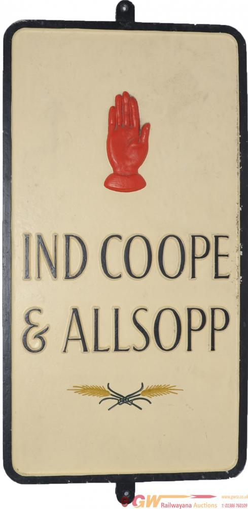 Cast Brewery Advertising Sign 'Ind Coope & Allsop'