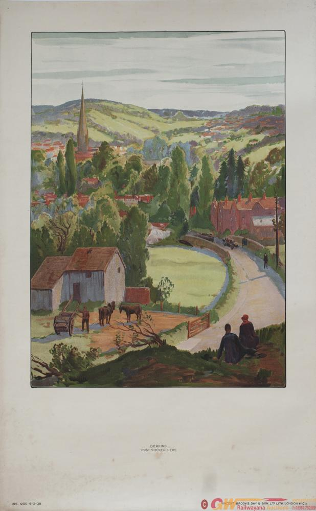 Poster London Transport DORKING By C. Cundall.