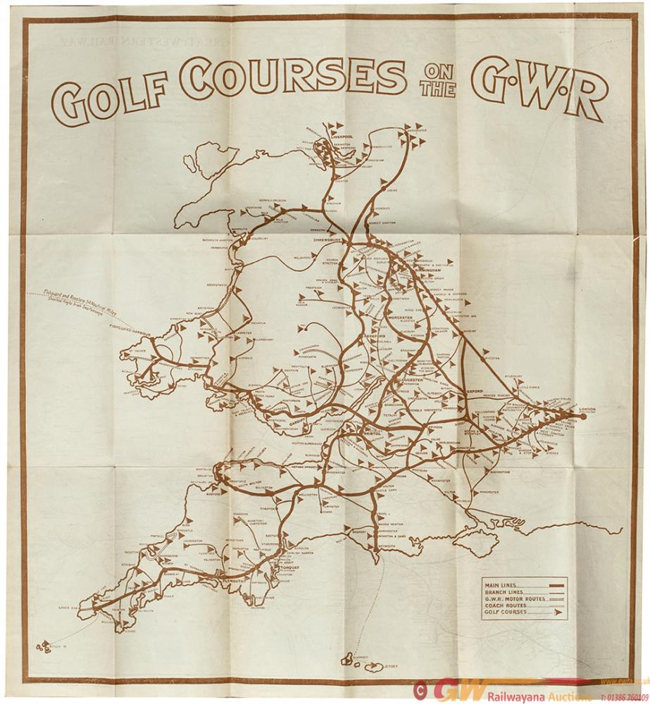 Poster GOLF COURSES ON THE GWR On One Side And A