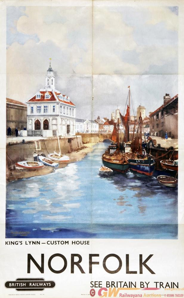 Poster British Railways 'Norfolk - Kings Lynn