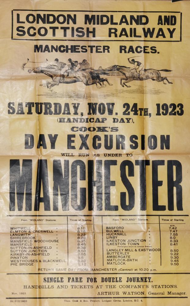 Poster, LMS D/R Letterpress 'Sat Nov 24th 1923