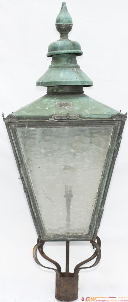 GWR Gas Platform Lamp Top Manufactured From Copper
