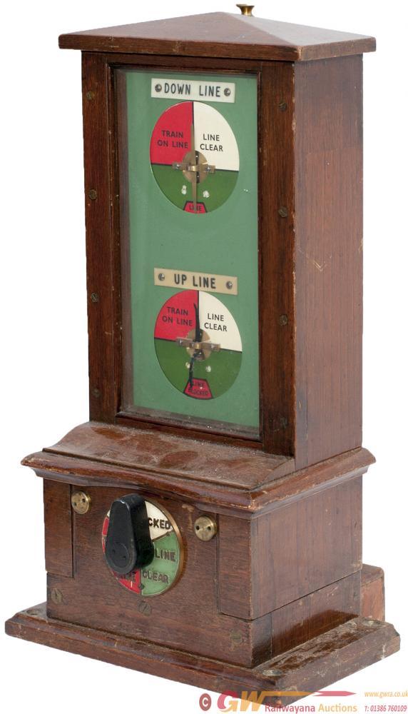 LNER Mahogany Cased Double Line Block Instrument.