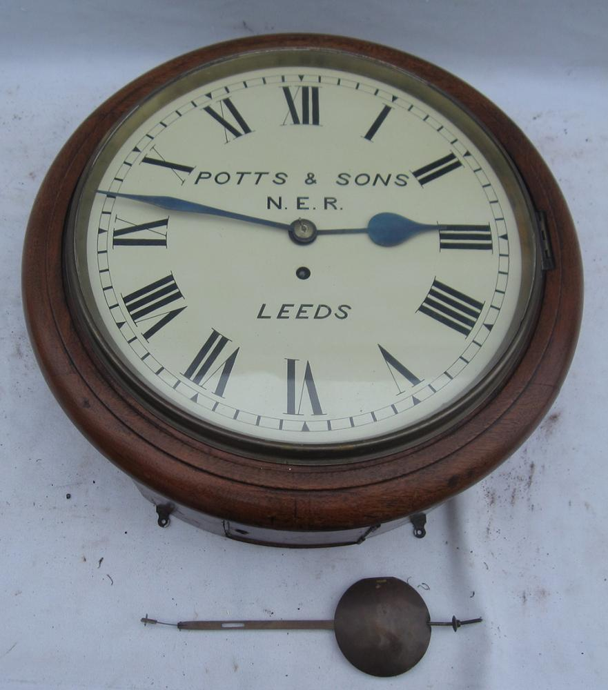 10 Inch Dial Fusee CLOCK By POTTS And SONS LEEDS.