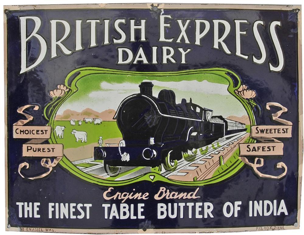 Enamel Adverting Sign `British Express Dairy -