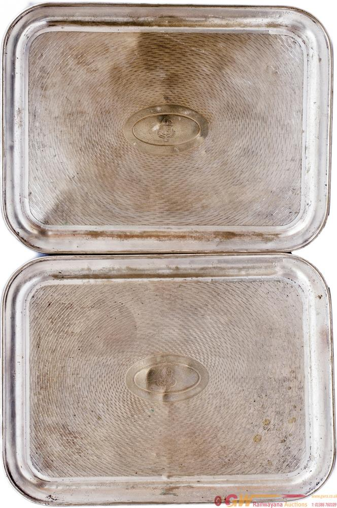 GWR Silverplate Trays, A Pair. Both Face Marked