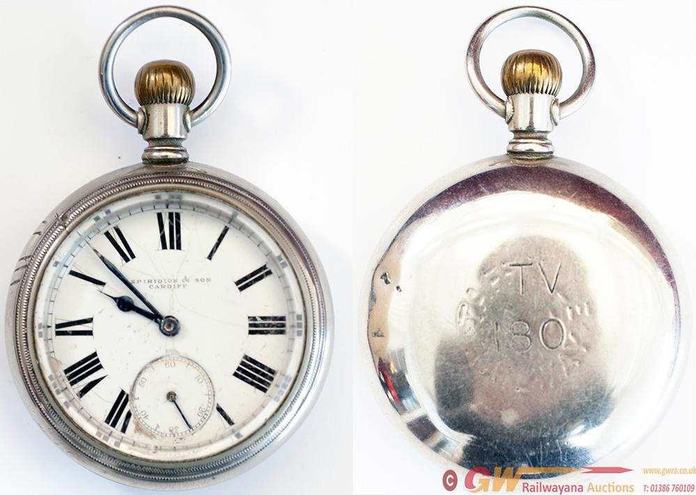 Taff Vale Railway Nickel Cased Pocket Watch With