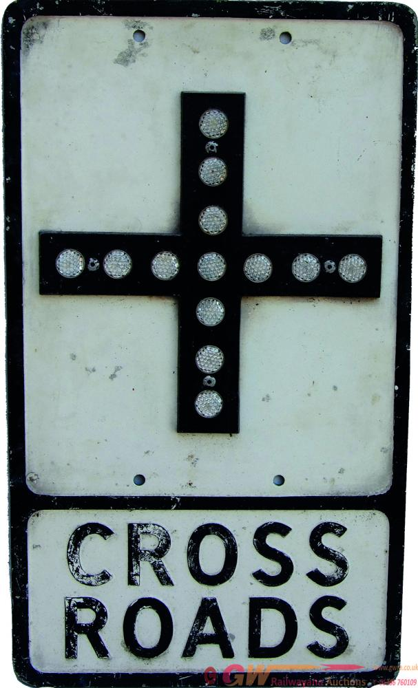 Roadsign 'Cross Roads', Alloy Construction And