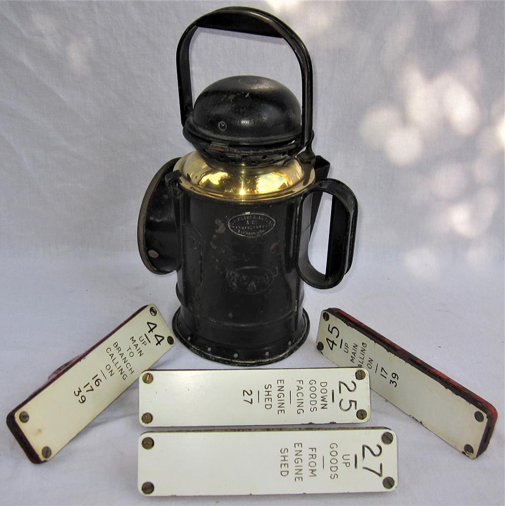 BR(W) 3 Aspect Hand Lamp Complete With Internal