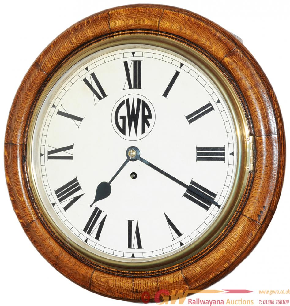 Great Western Railway 12 Inch Oak Cased Fusee Dial