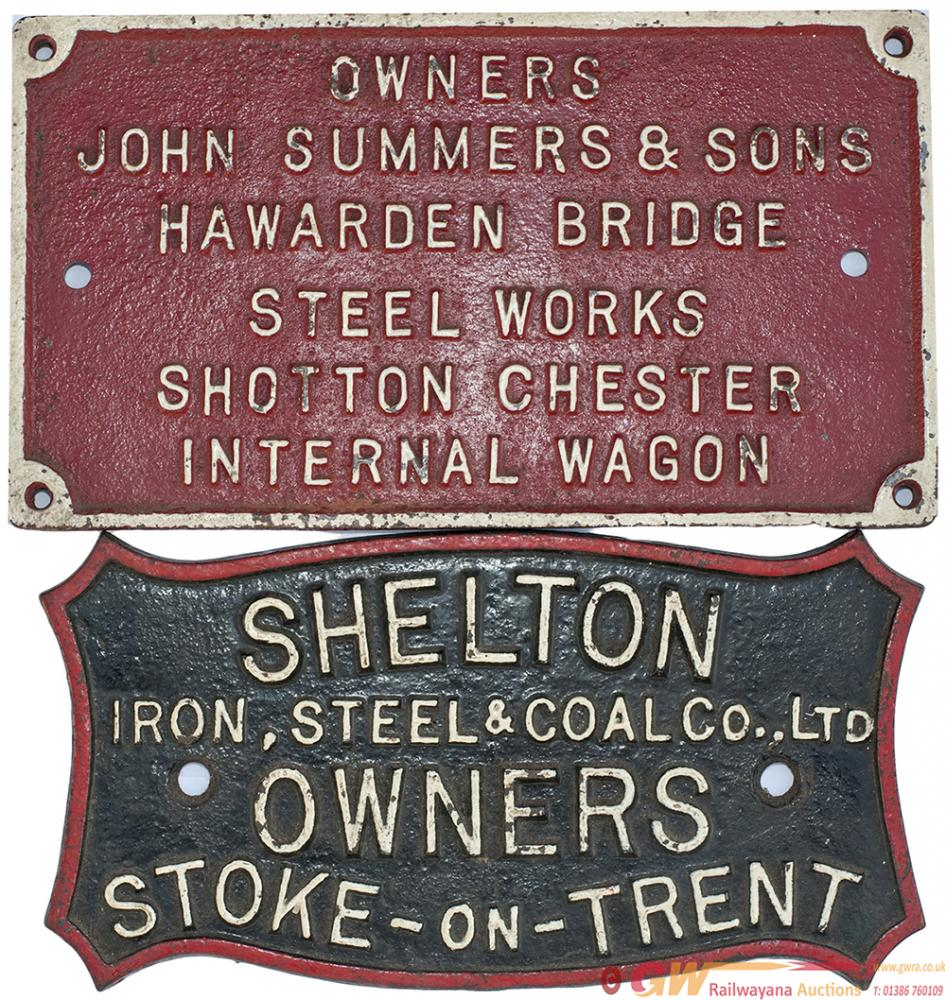 A Pair Of Wagonplates To Include: SHELTON IRON