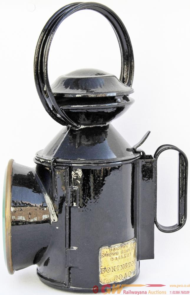 LNER Saucer Top Handlamp With Fully Titled Brass