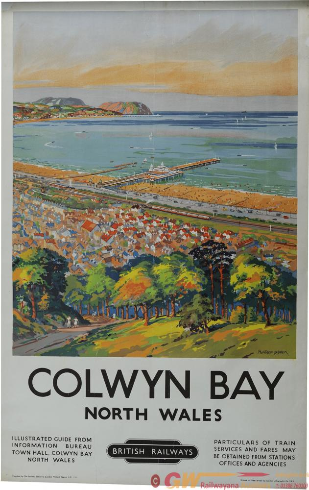 Poster BR 'Colwyn Bay North Wales' By Montague
