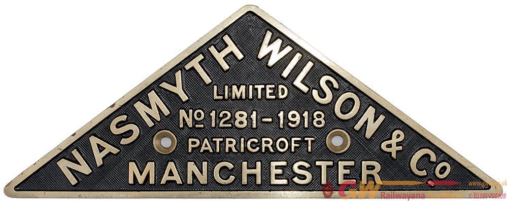 Worksplate NASMYTH WILSON & CO LIMITED PATRICROFT