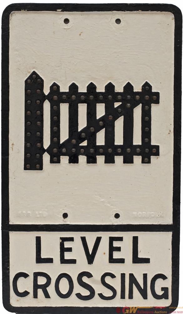 Road Sign Cast Iron LEVEL CROSSING, IRS Ltd