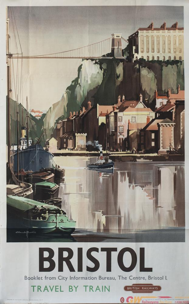 Poster BR(W) BRISTOL By Claude Buckle. Double