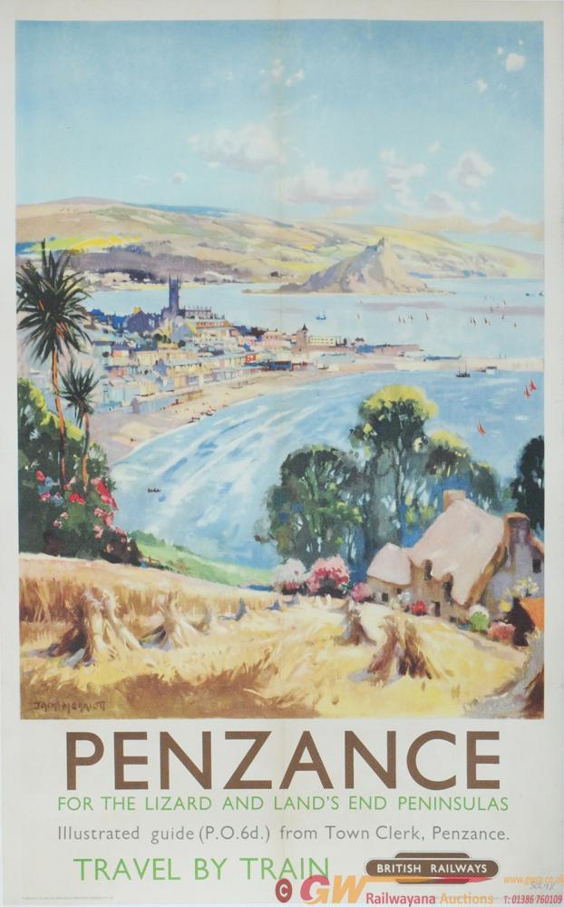 Poster BR(W) 'Penzance' By Jack Merriott Circa