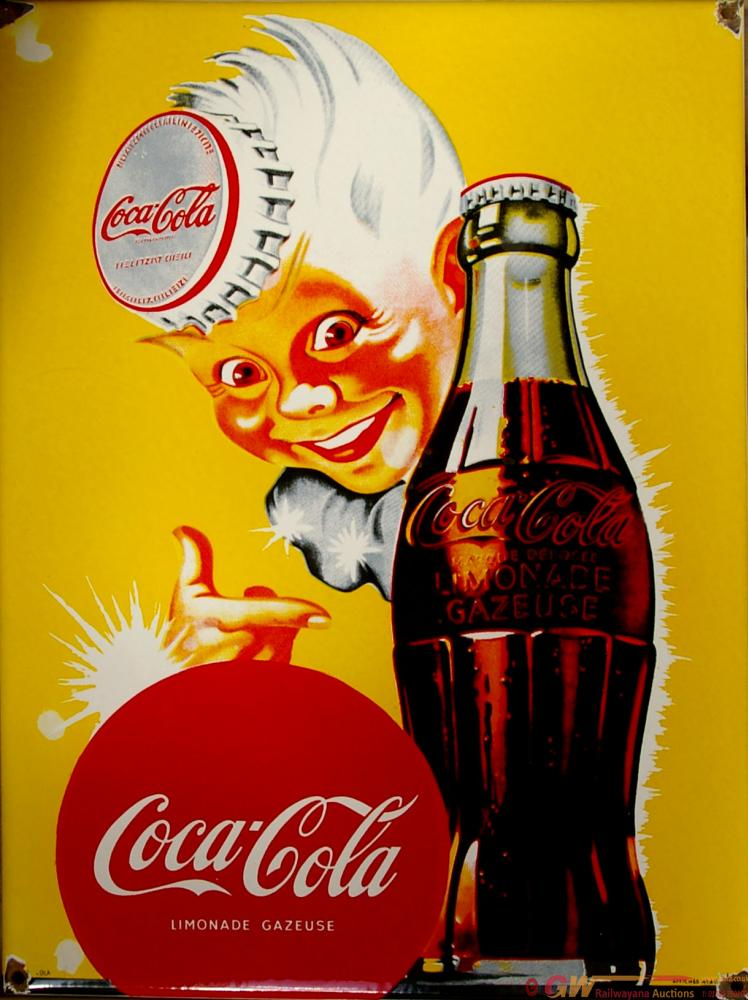 Enamel Advertising Sign 'Coca-Cola' With Pictorial