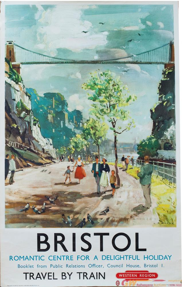 Poster BR BRISTOL By Leslie Arthur Wilson Dated