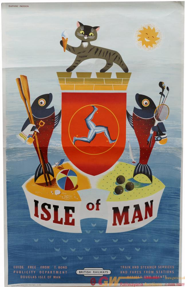 BR Poster 'Isle Of Man' By Daphne Padden, D/R