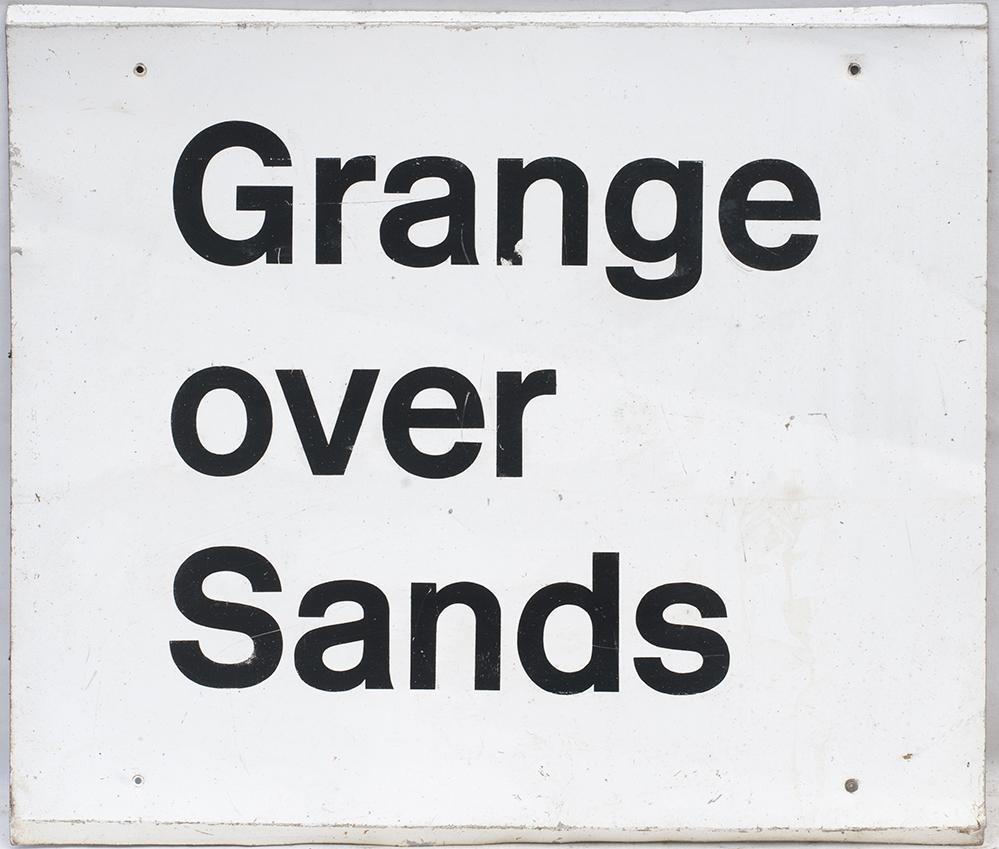 BR Modern Image Aluminium Station Sign. GRANGE