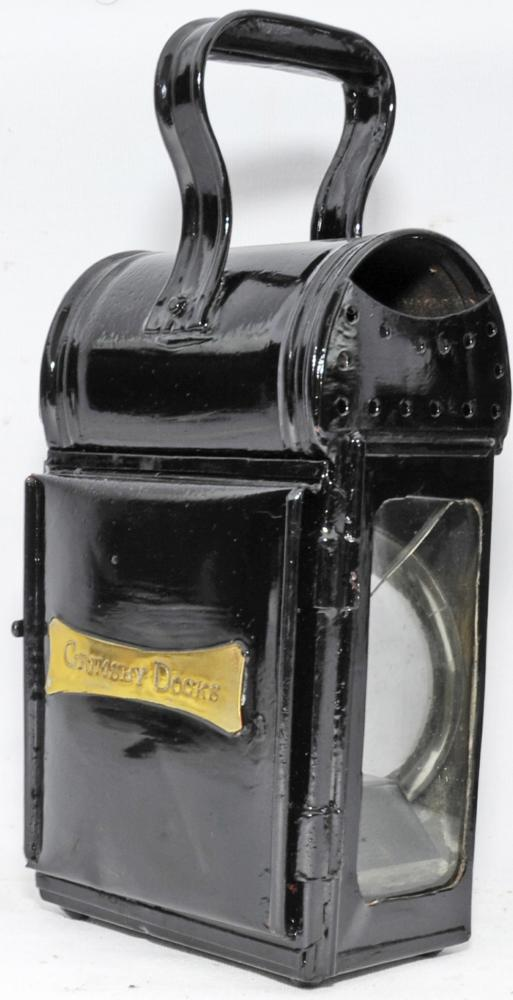 GCR Small Cart-Style Handlamp With Ornate Brass