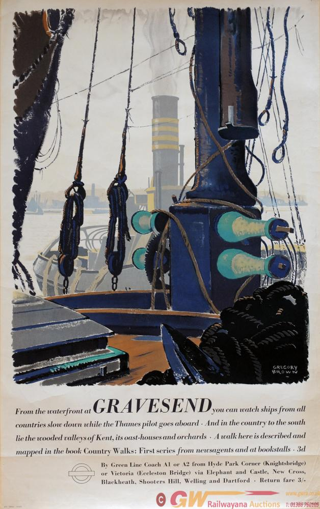 Poster London Transport 'Gravesend' By Gregory