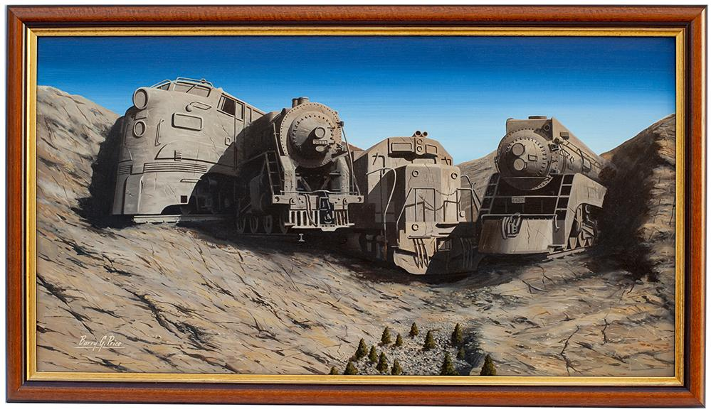 Original Oil Painting On Canvas MOUNT RUSHMORE