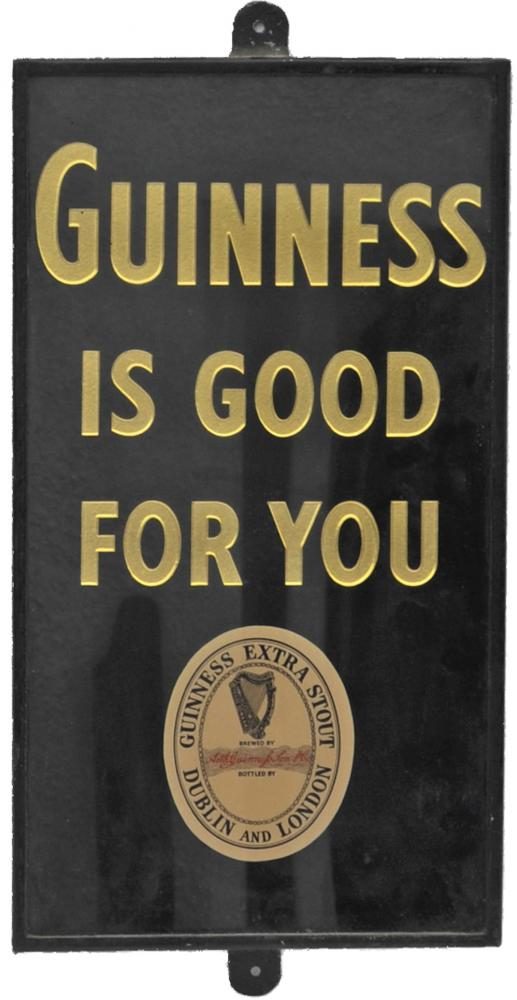Advertising Sign Guinness Is Good For You. Glass