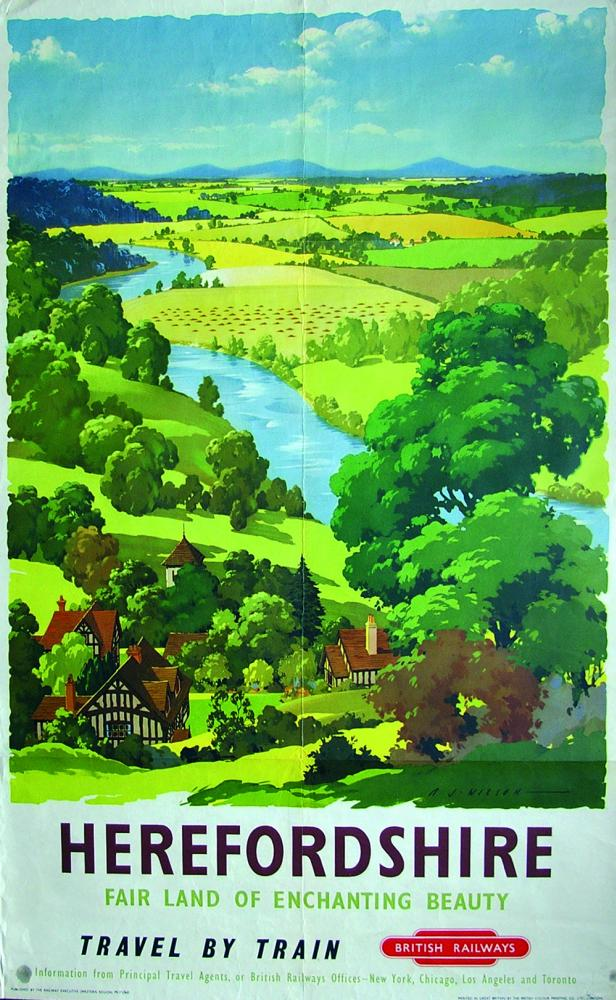 Poster, BR(W) 'Herefordshire - Fair Land Of