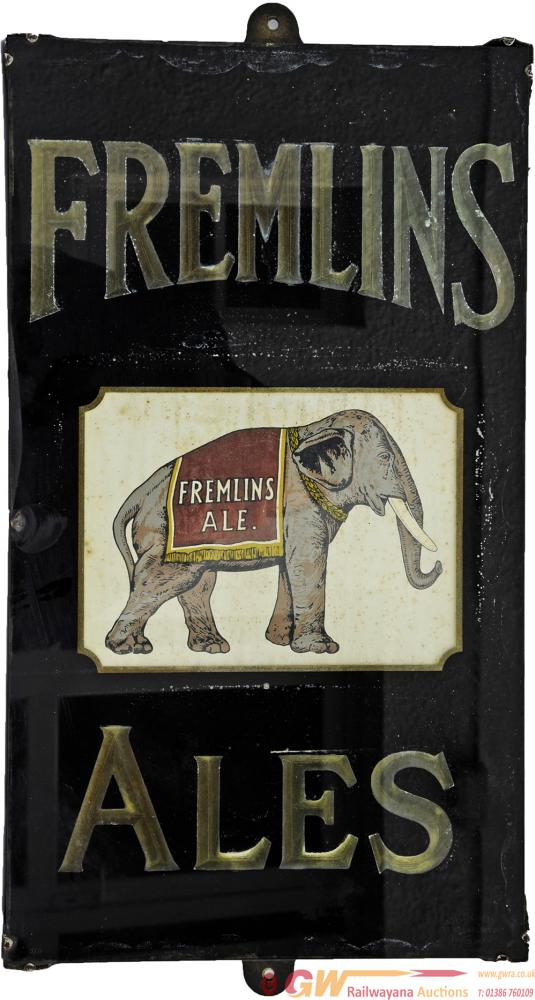 Brewery Advertising Glass & Slate Sign 'Fremlin's