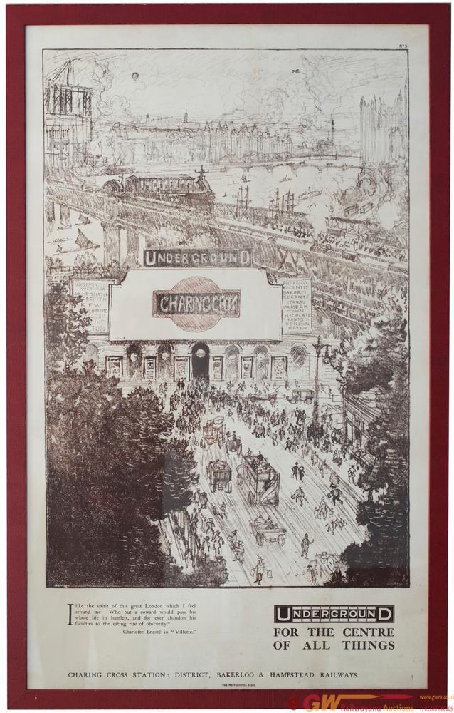 Poster Underground Electric Railways UNDERGROUND