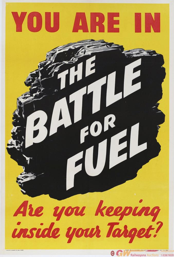 Poster ww2 YOU ARE IN THE BATTLE FOR FUEL ARE YOU