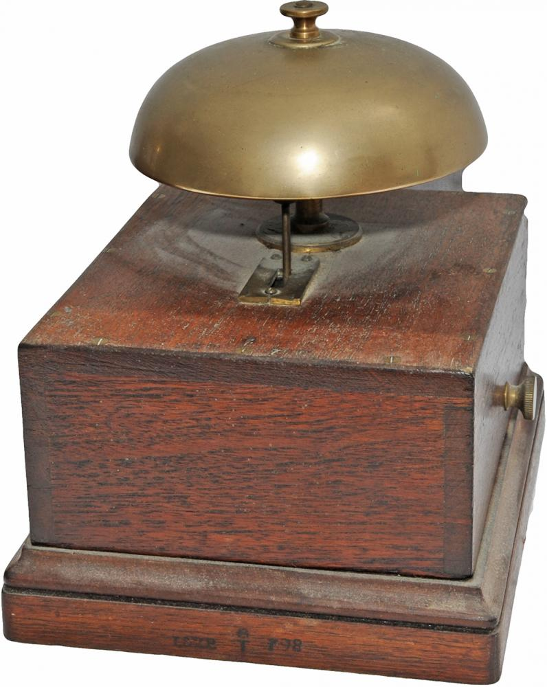 L&YR Mahogany Cased Block Bell. The Case And Base