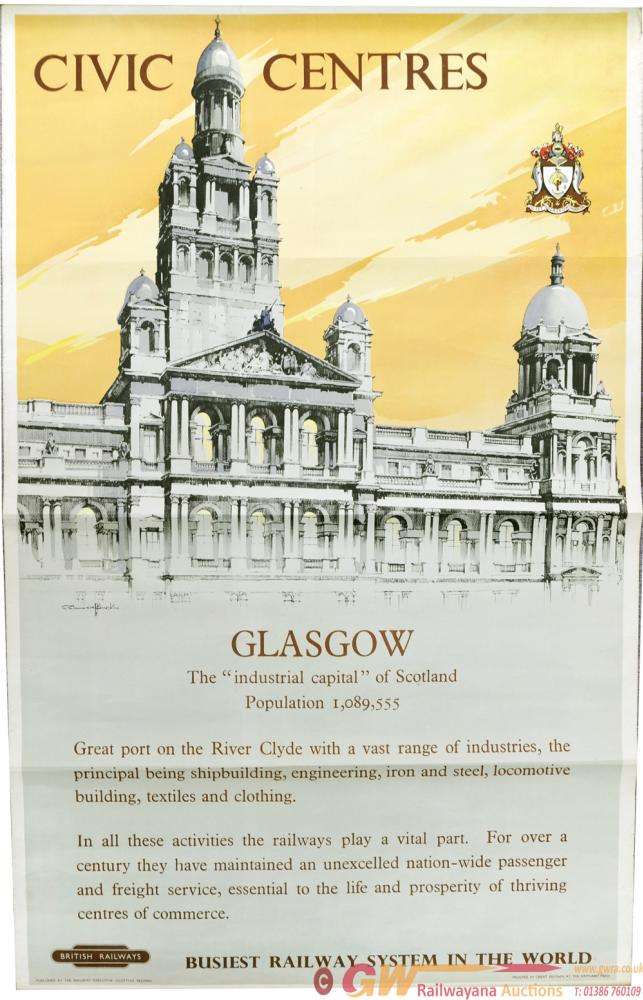 BR Poster 'Civic Centres - Glasgow - The