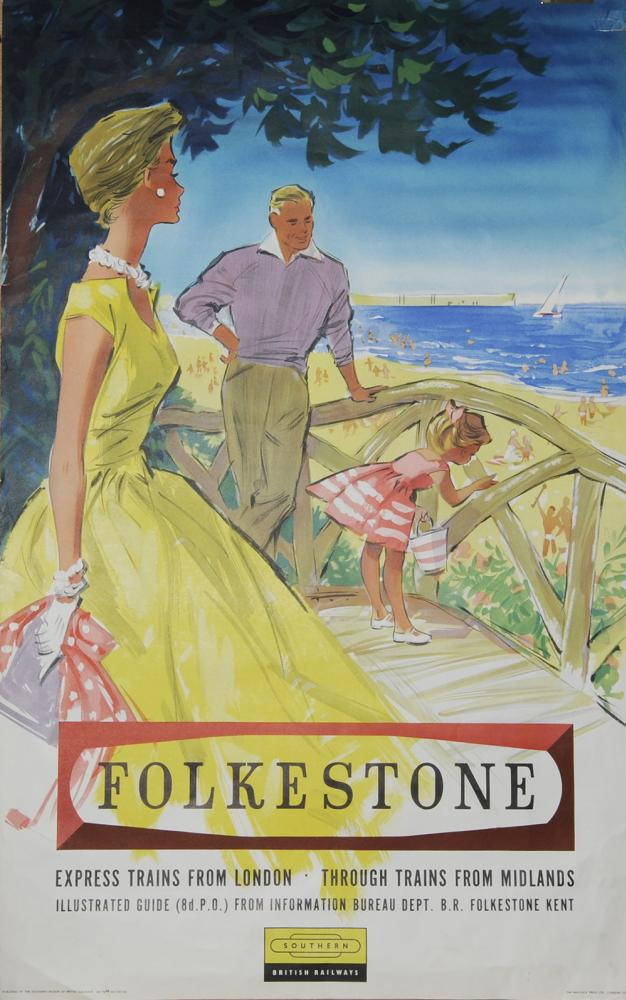 Poster BR(S) 'Folkestone - Express Trains From