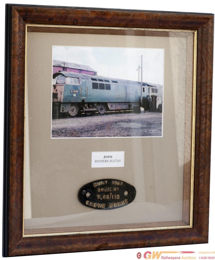 Diesel Bogie Plate BUILT 1963 BOGIE No 1000/113
