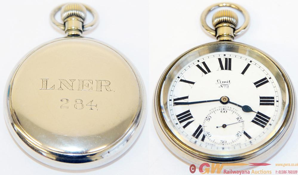 LNER Pocket Watch Of Early Post-Grouping Design.