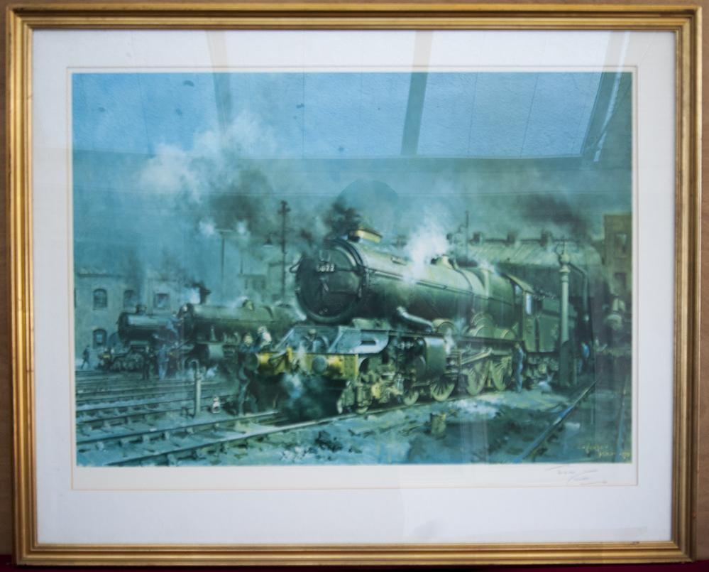 Signed Print King On Shed By Terence Cuneo. Framed