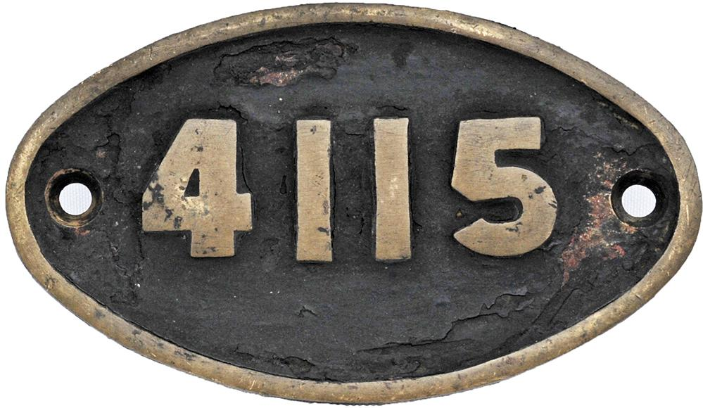 South African Railways Brass Oval Tenderplate