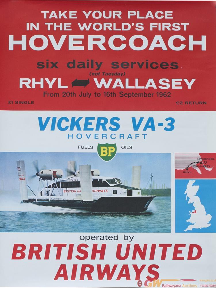 Poster BRITISH UNITED AIRWAYS, WORLDS FIRST