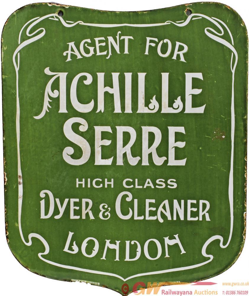 Advertising Enamel Sign 'Agent Achille Serre, High