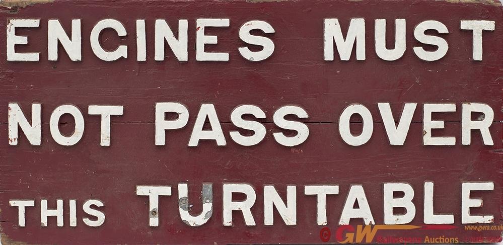 Railway Wooden Sign With Cast Iron Letters ENGINES
