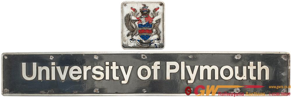 Nameplate UNIVERSITY OF PLYMOUTH And With Separate