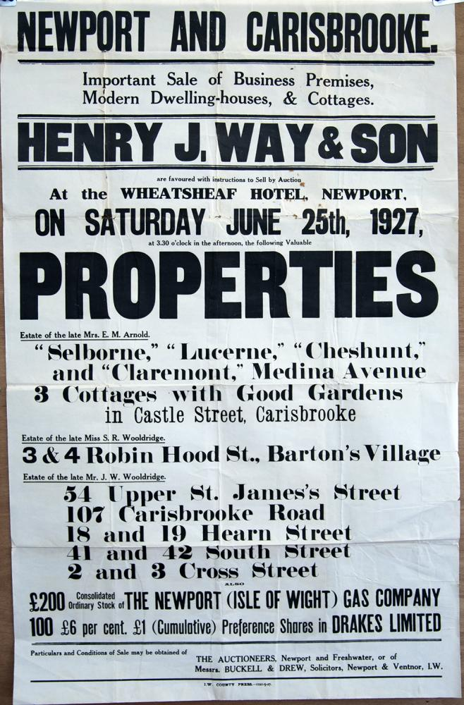 Isle Of Wight County Press Poster Dated 1927