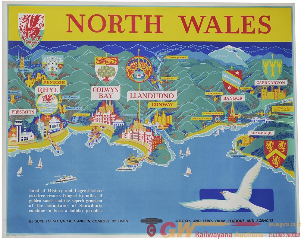 Poster British Railways 'North Wales', Quad Royal